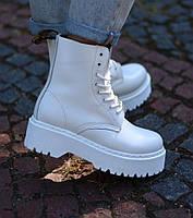 Женские ботинки Dr. Martens Jadon белые кожа