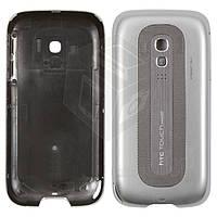 Задняя панель корпуса для HTC Touch Pro2 T7373, оригинал (серебристый)