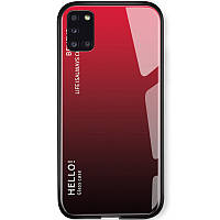 TPU+Glass чехол Gradient HELLO для Samsung Galaxy A31 Красный
