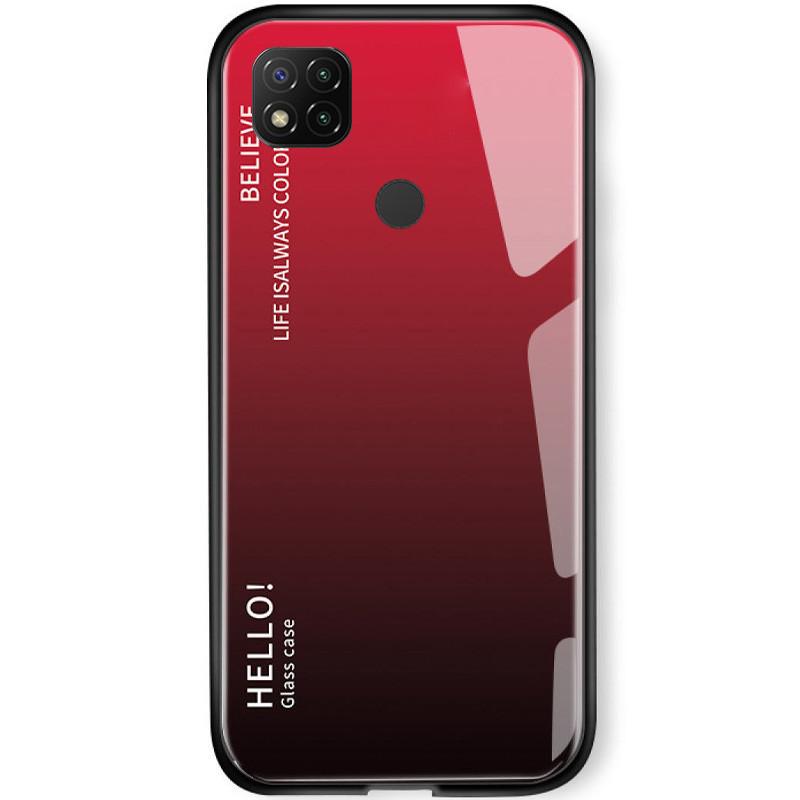 TPU+Glass чехол Gradient HELLO для Xiaomi Redmi 9C