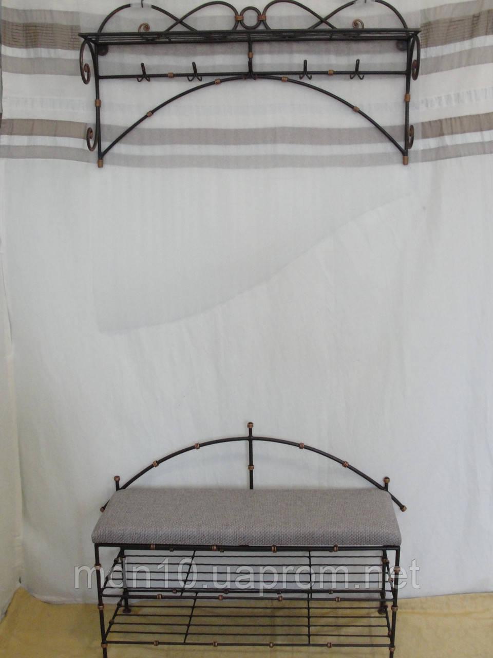 Кованый набор мебели в прихожую  -  017