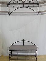Кованый набор мебели в прихожую  -  017, фото 1