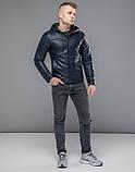 Куртка осенняя 15353 темно-синий, фото 3