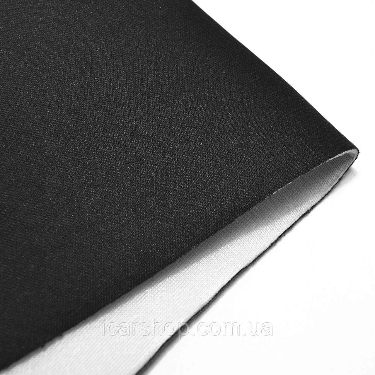 Тканина 304 (1,8 м) чорна / На поролоні 2мм