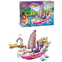 Детский конструктор для девочки Brick Корабль Принцессы, 456 деталей арт.2609