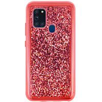 TPU+PC чехол Sparkle (glitter) для Samsung Galaxy A21s