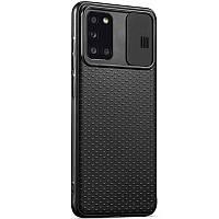 Чехол Camshield Black TPU со шторкой защищающей камеру для Samsung Galaxy A31