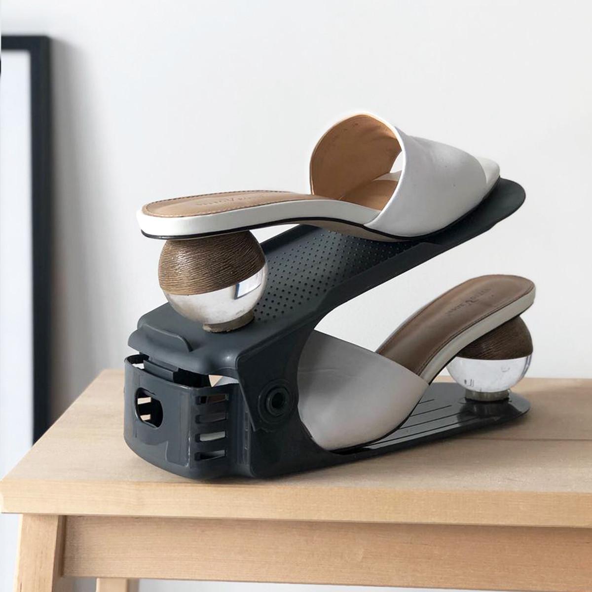 Подставка для обуви пластиковая (cерый)