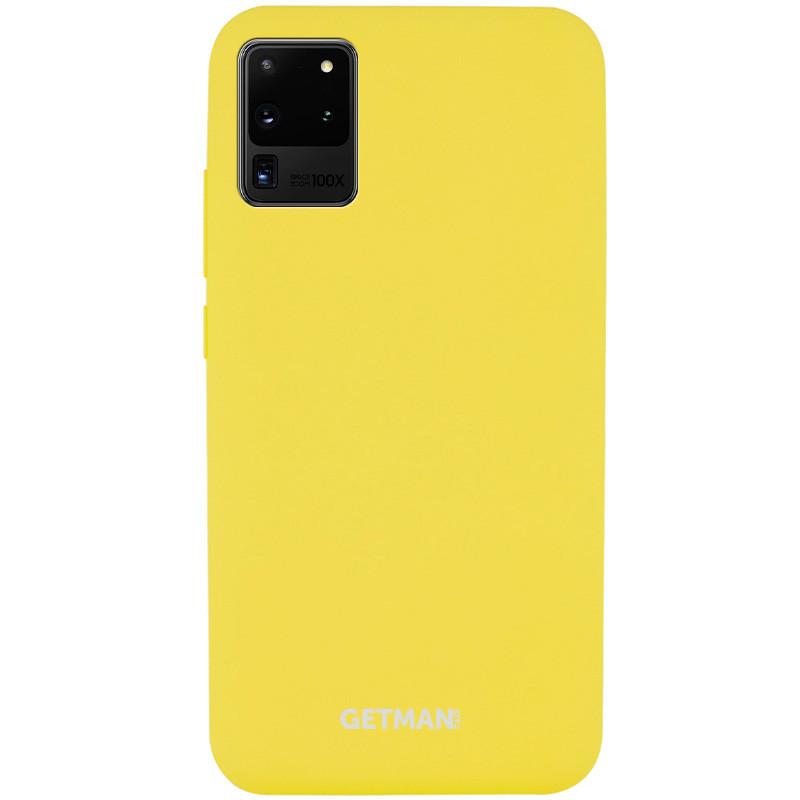 Чехол Silicone Cover GETMAN for Magnet для Samsung Galaxy S20 Ultra