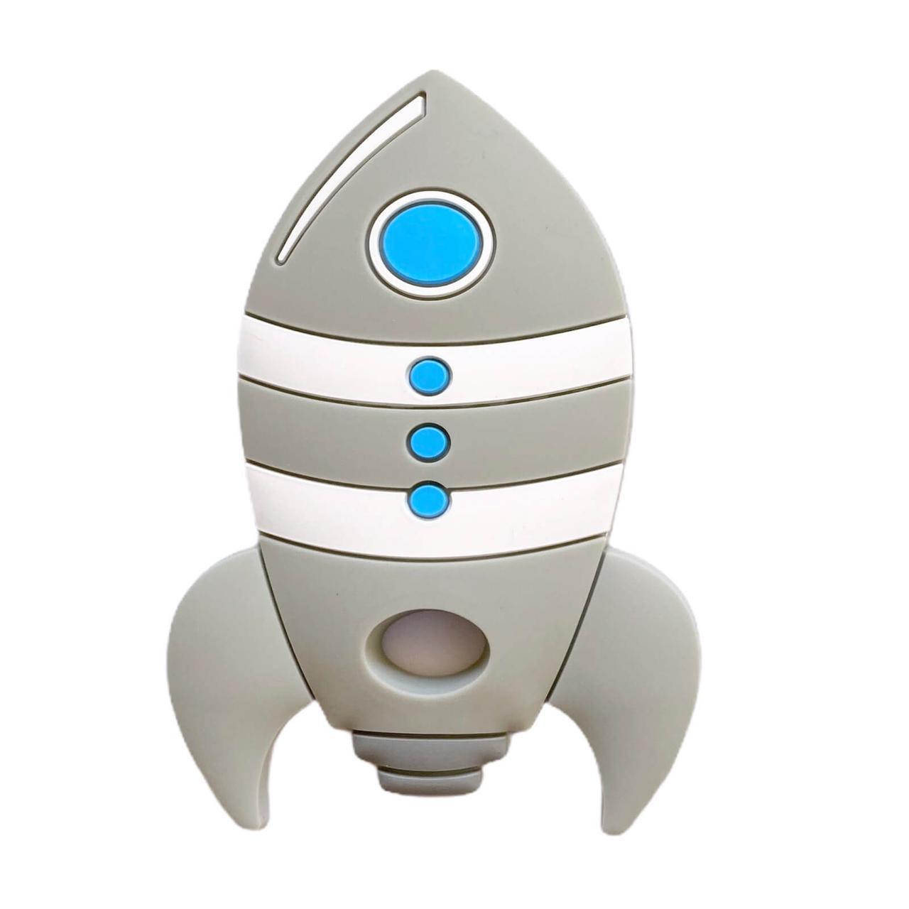 Ракета (светло-серый) силиконовый прорезыватель для зубов