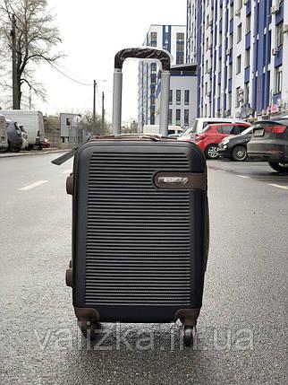 Пластиковый чемодан маленький черный для ручной клади, фото 2