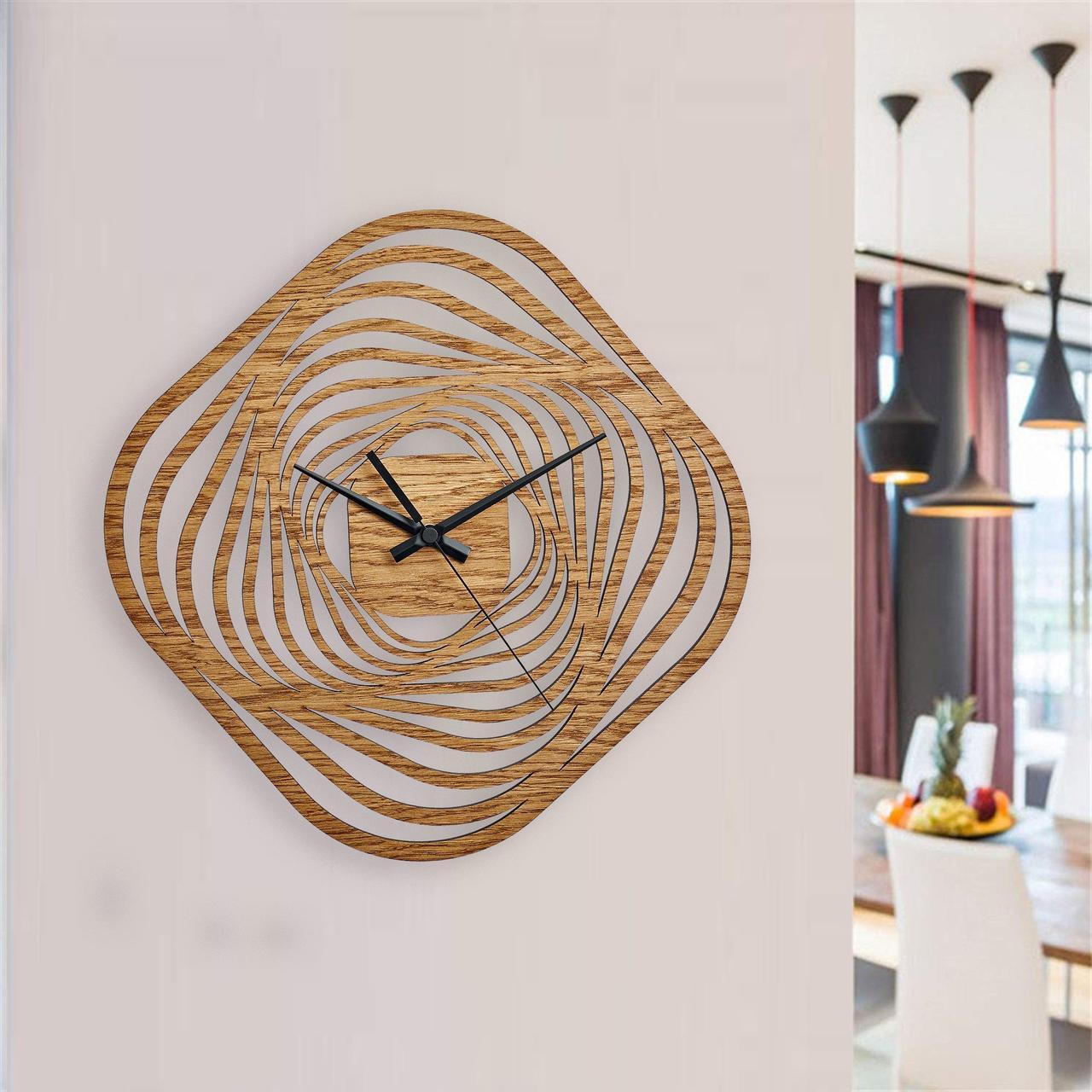Деревянные настенные часы Moku Aomi 1