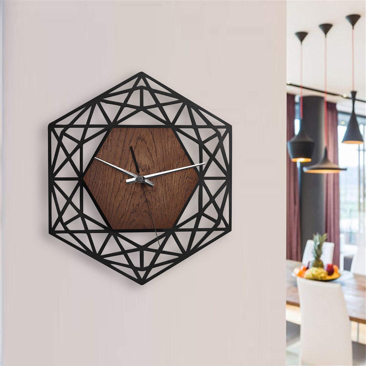 Деревянные настенные часы Moku Ginza