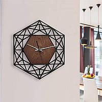 Деревянные настенные часы Moku Ginza, фото 1