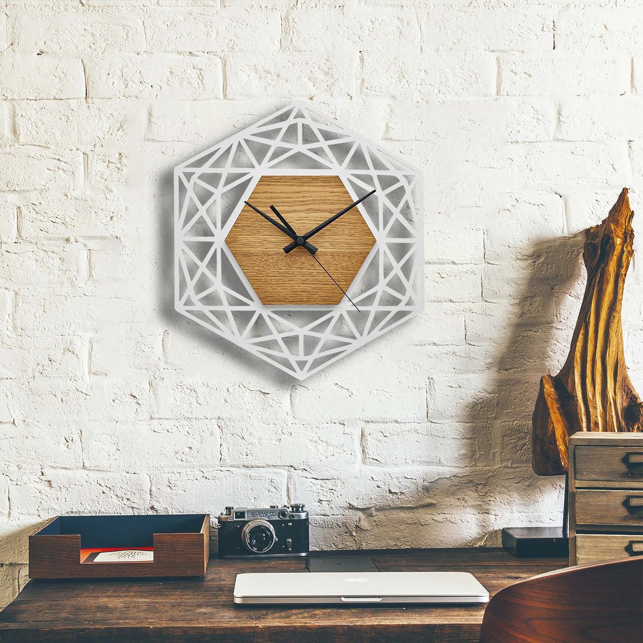 Деревянные настенные часы Moku Ginza 2