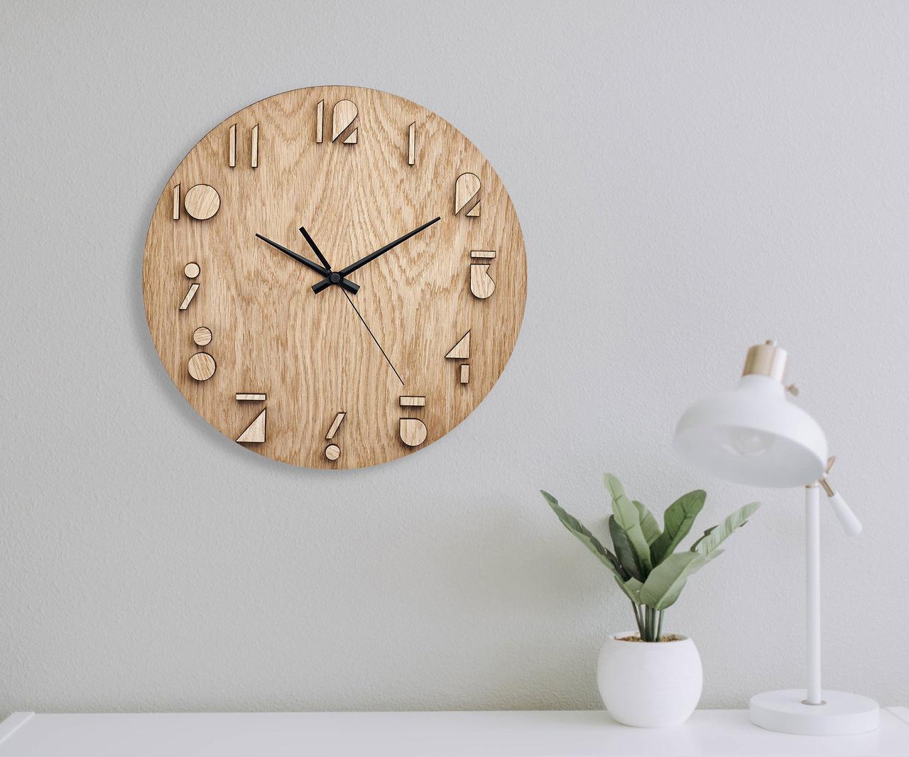 Деревянные настенные часы Moku Katori