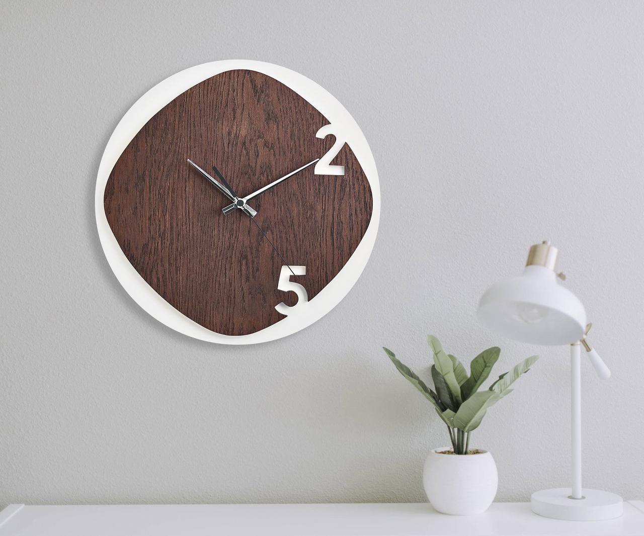 Деревянные настенные часы Moku Kyoto 1