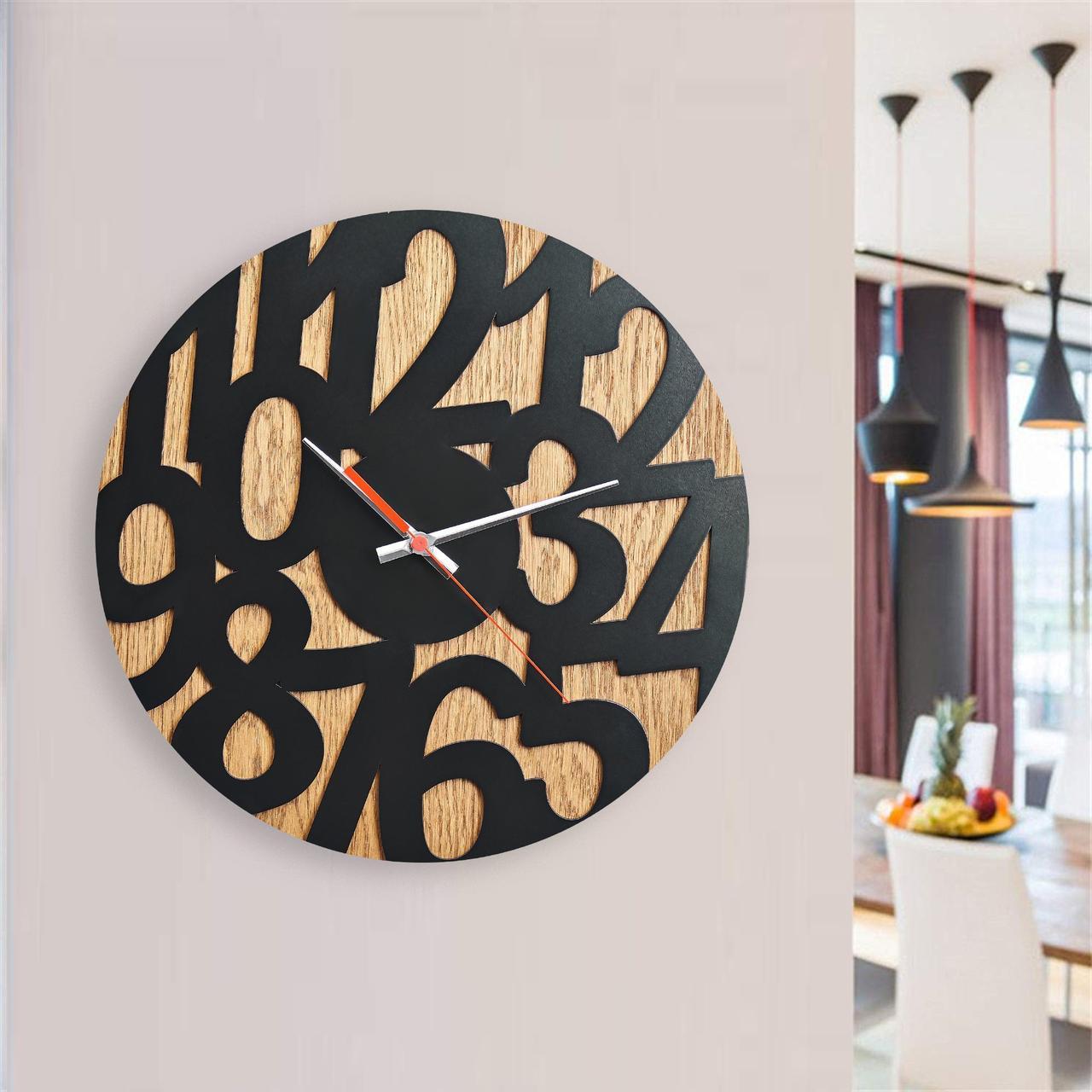 Деревянные настенные часы Moku Nakagawa