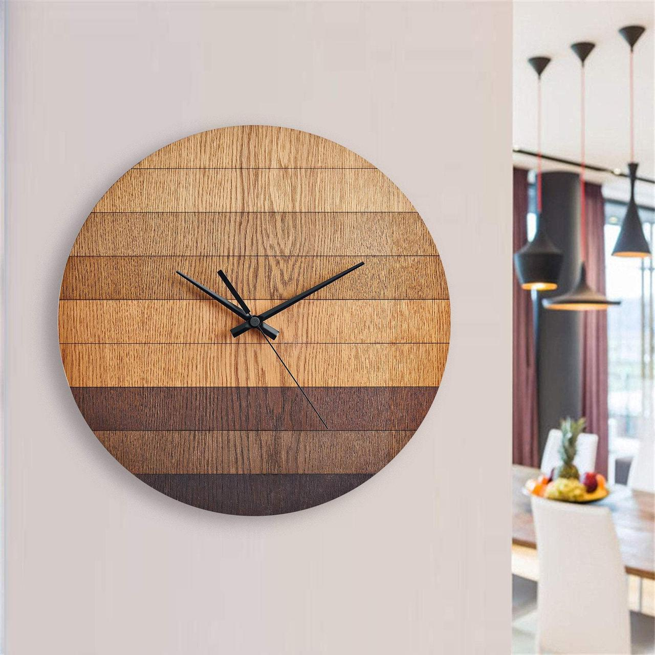 Деревянные настенные часы Moku Sakura