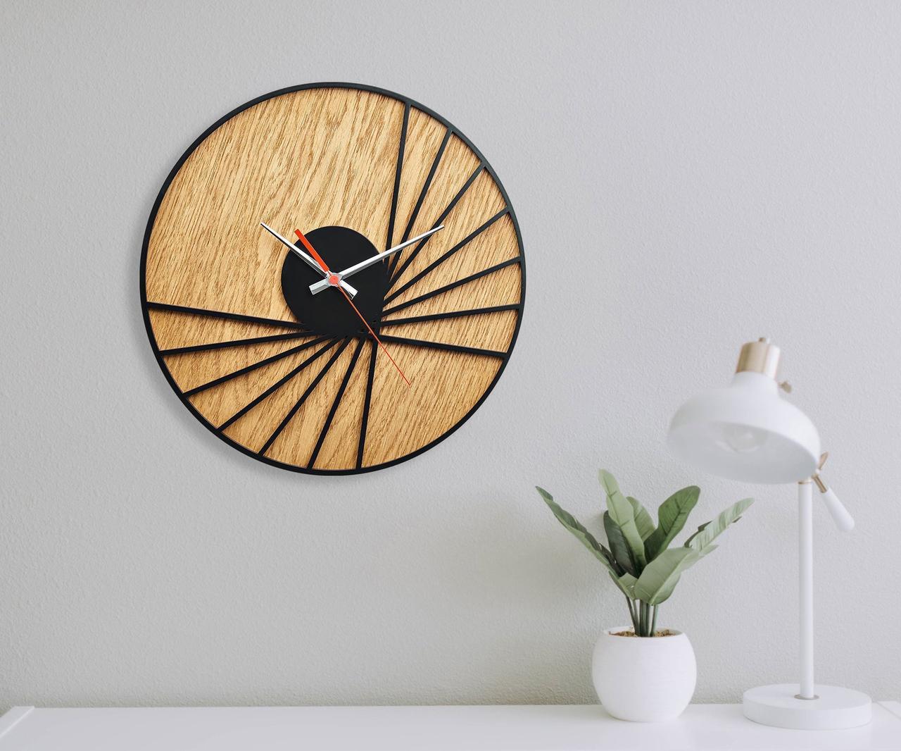 Деревянные настенные часы Moku Takayama