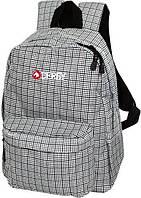 Рюкзак классический *DERBY* (серые/коричневые квадраты) (0170360) Серый