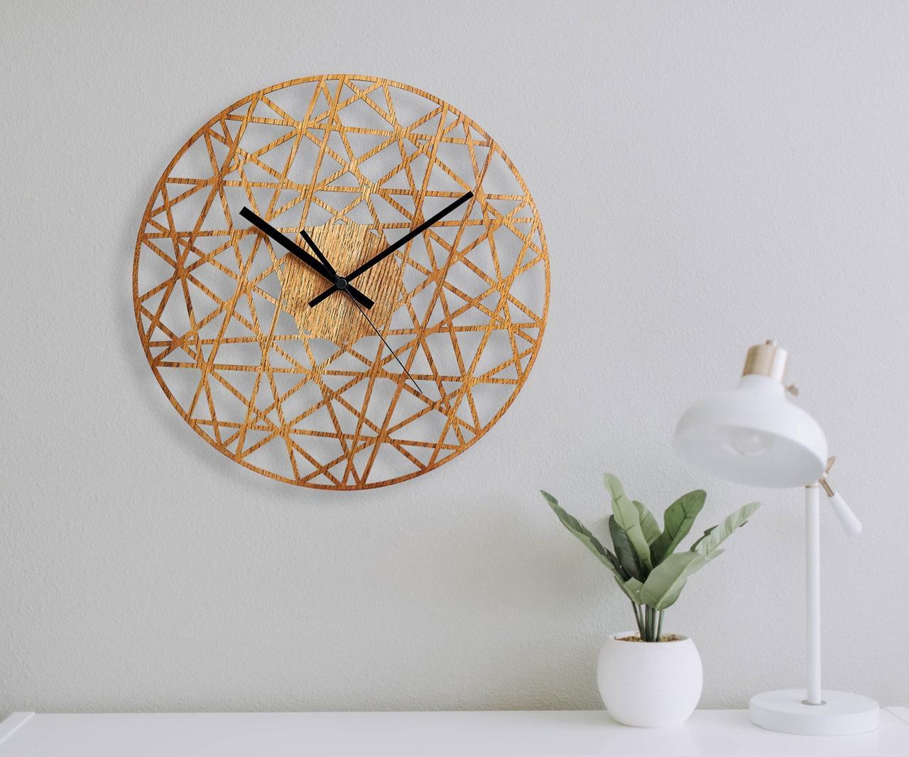 Деревянные настенные часы Moku Tamagawa