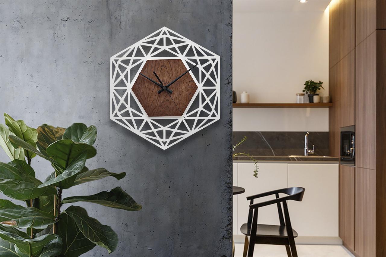 Деревянные настенные часы Moku Ginza 3