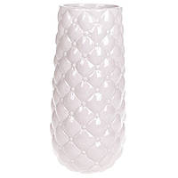 Ваза керамическая розовая Капитоне 30,5