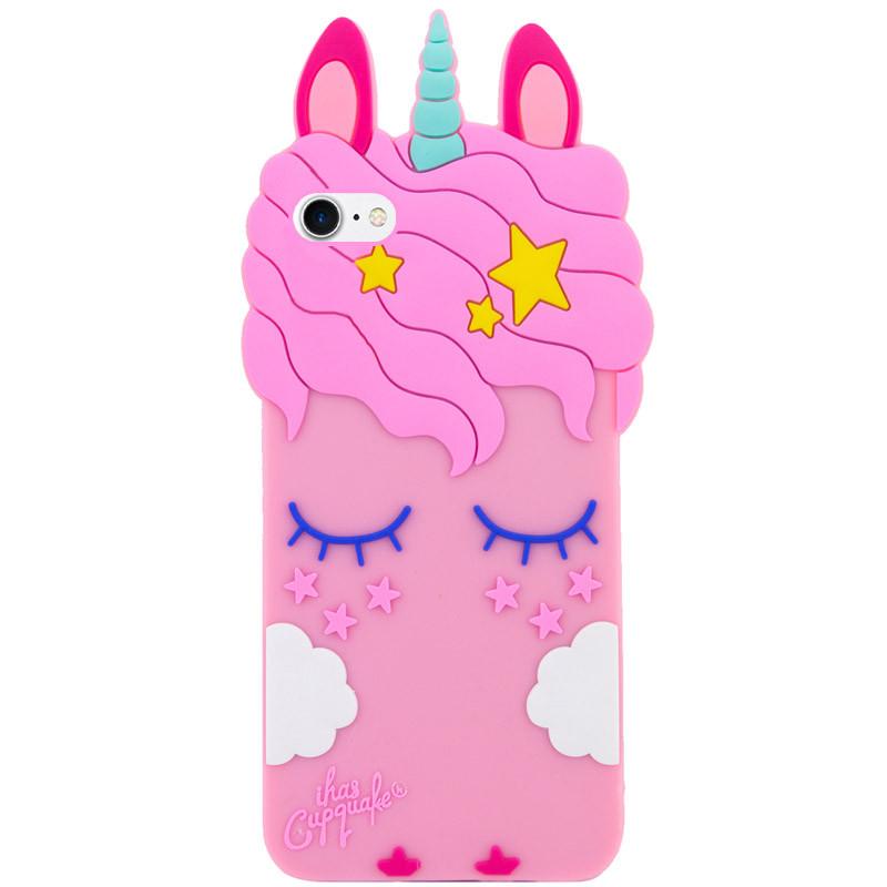 """Силиконовая накладка 3D Little Unicorn для Apple iPhone 7 / 8 / SE (2020) (4.7"""")"""