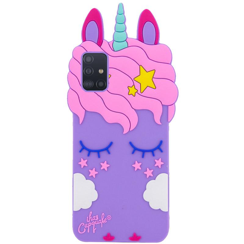 Силиконовая накладка 3D Little Unicorn для Samsung Galaxy A51