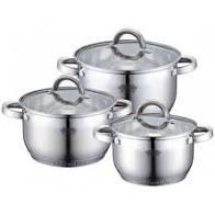 Набор посуды из нержавеющей стали - 6 предметов Bohmann BH 0714