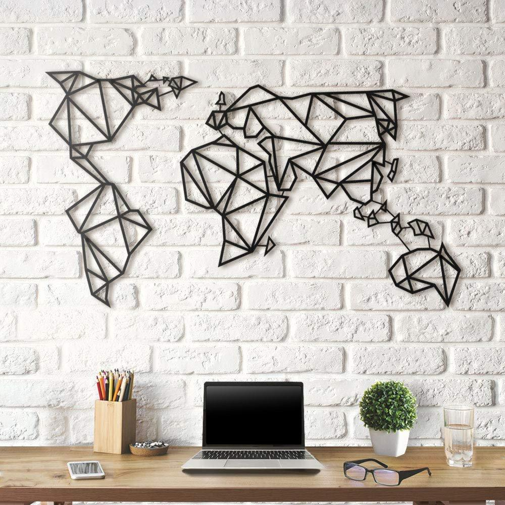 Картина из дерева Decart Map Earth