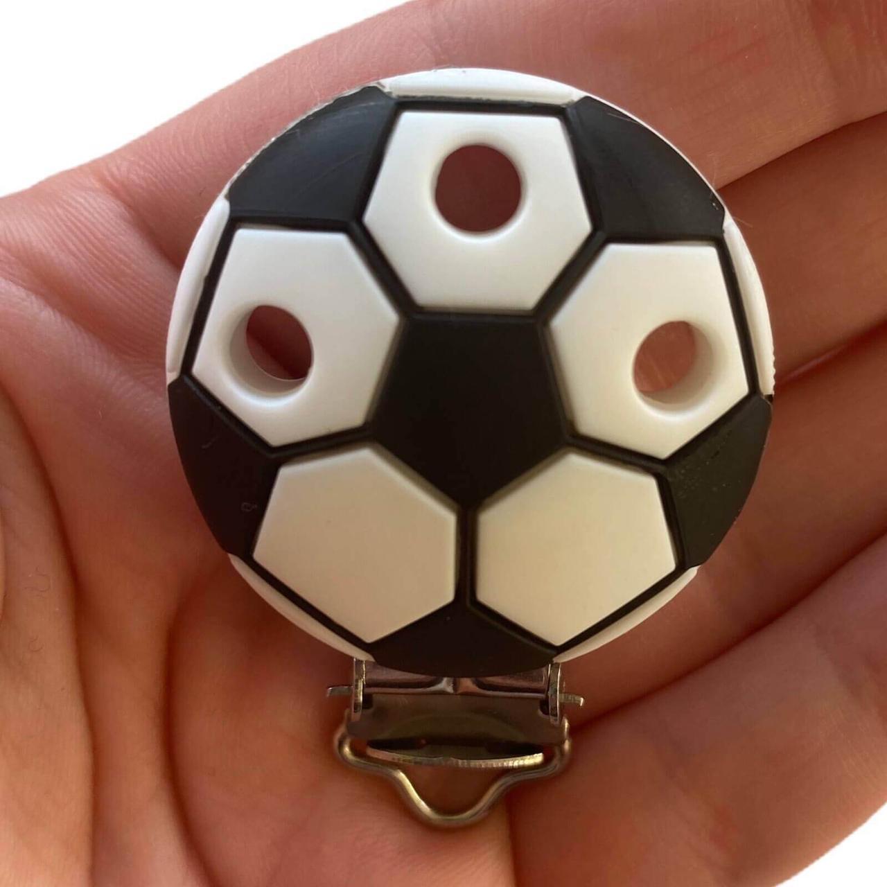 Клипса Мячик (Белый) силиконовая для пустышки