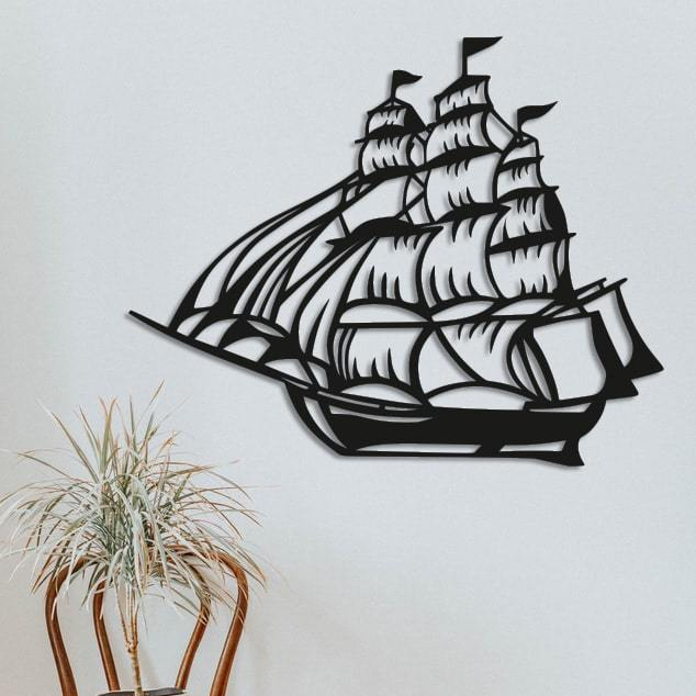 Картина из дерева Decart Корабль