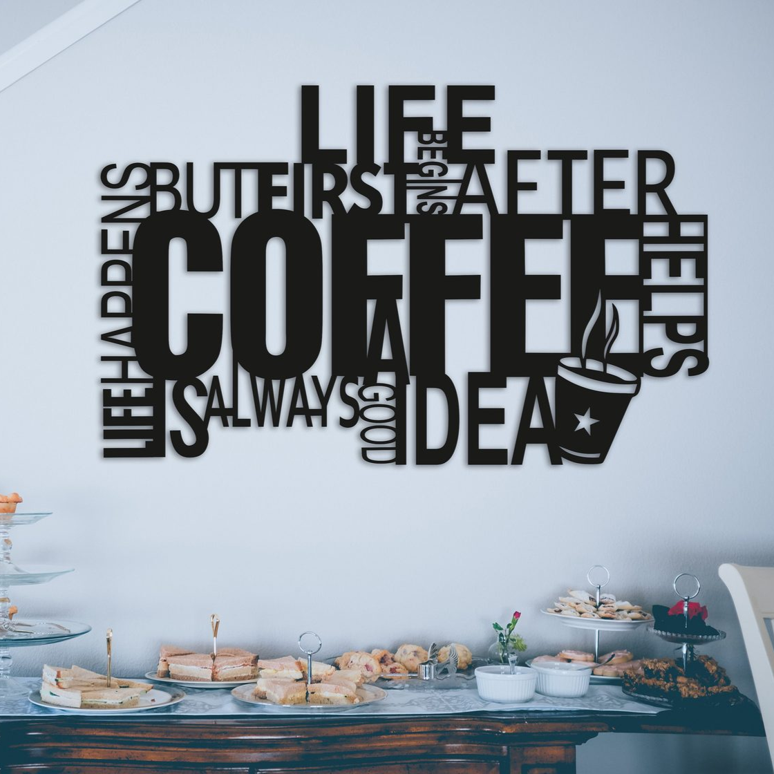 Картина из дерева Decart Coffee Good