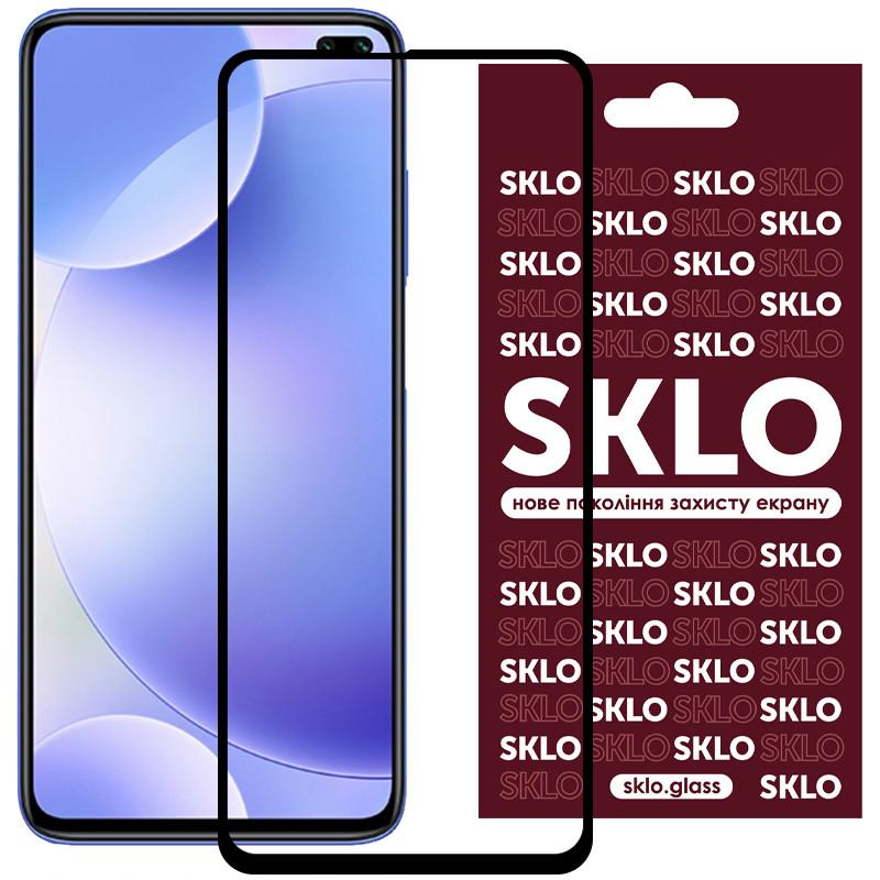 Защитное стекло SKLO 3D (full glue) для Xiaomi Redmi K30 / Poco X3 NFC / Poco X3 / Mi 10T/Mi 10T Pro