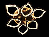 Светодиодная люстра с диммером и LED подсветкой, цвет чёрный хром, 115W, фото 3