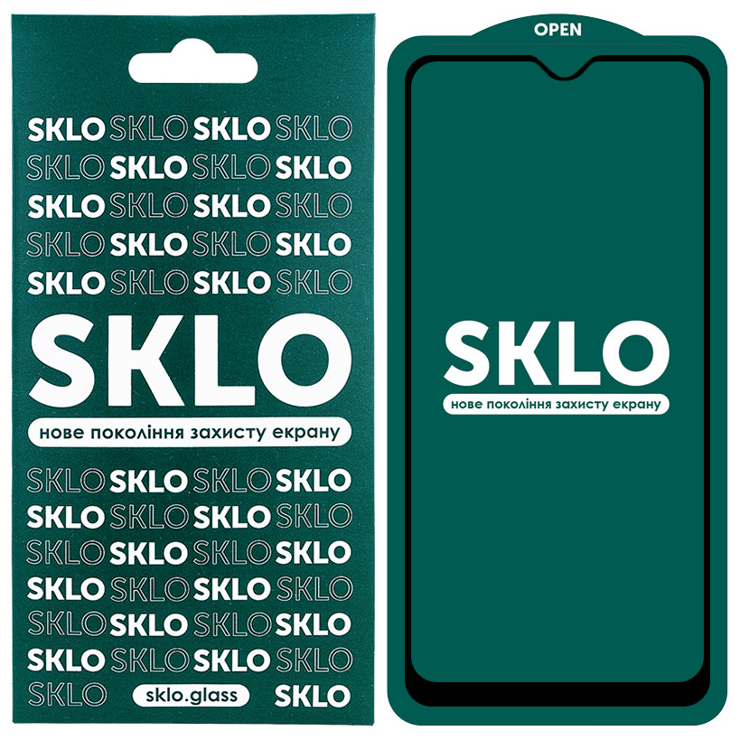 Защитное стекло SKLO 5D (full glue) для Samsung Galaxy A01