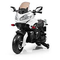 Детский мотоцикл Bambi M 3630 EL-1 Белый | Детский электромотоцикл Бемби на аккумуляторе