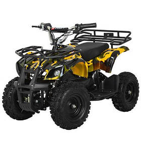 Детский (подрастковый) квадроцикл электрический Profi (мотор 800W, 3 аккум) HB-EATV800N-13 V3 Желтый камуфляж