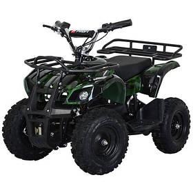 Дитячий (подрастковый) квадроцикл електричний Profi (мотор 800W, 3 акум) HB-EATV800N-10 V3 Темно-зелений