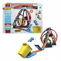 Трек Хот Вилс Тройная петля Hot Wheels Track Builder Unlimited Triple Loop Kit ( GLC96 )