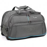 Дорожная сумка  на колесах Wallaby серая 57x34x36 (дорожные сумки, сумки в дорогу)
