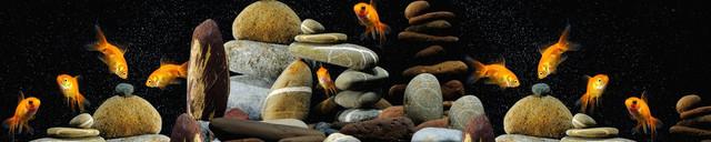 изображение злотых рыбок для фартука