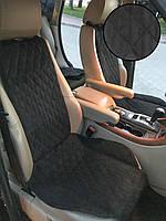 Накидки на передние сиденья ПРЕМИУМ Алькантара Польша. Универсальные автомобильные накидки. Цвет черный