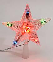 Верхушка на елку Звезда, 10 лампочек, постоянное свечение