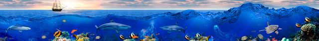 картинка тропических рыбок для фартука 1