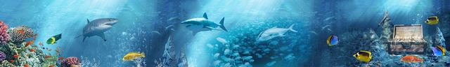 картинка тропических рыбок для фартука 7