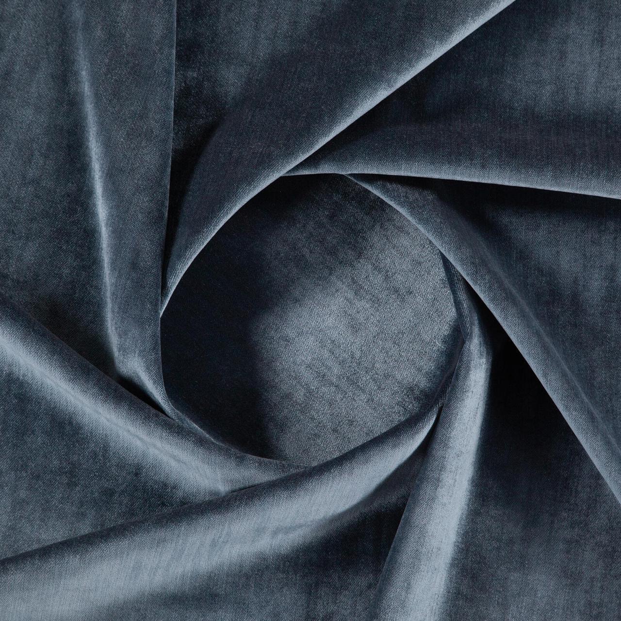 Бархат для перетяжки мебели Детерминэйшн (Determination) темно-синего цвета
