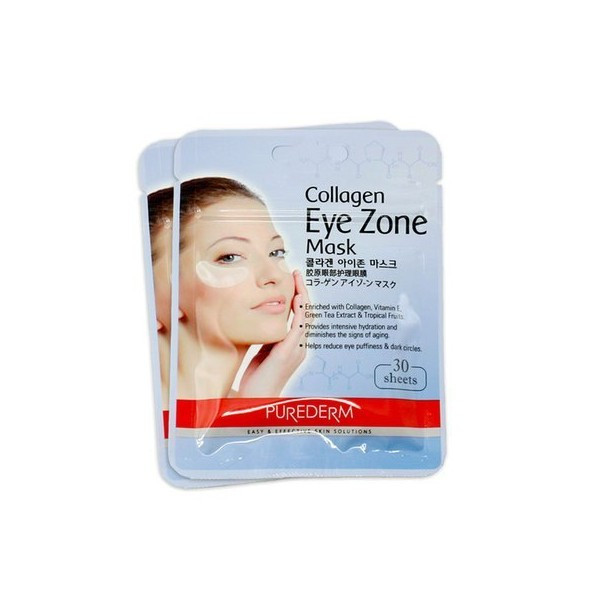 Коллагеновые патчи под глаза, 30 шт Purederm Collagen Eye Zone Mask